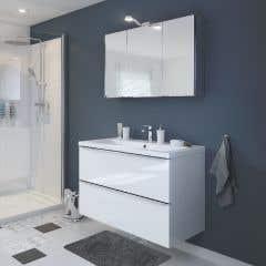 Dulap suspendat cu oglinda, alb, 100 x 60 x 15 cm - Imandra