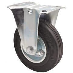 Rola fixa aparate din cauciuc, 125 mm, 100 kg
