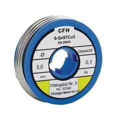 Aliaj de lipit electronic, WL 340, diametru 3 mm, 100 g • CFH