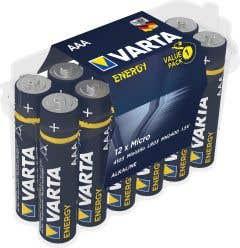 Set 12 baterii alcaline AAA, 3000MAh • Varta