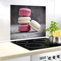 Protectie perete, multicolor, 60 x 50 cm, sticla •  Macarons
