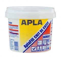 Chit acrilic pentru reparatii Apla, 0.8 kg, culoare alb