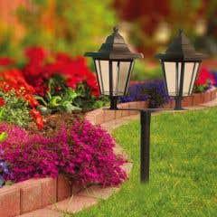 Lampa solara stalp, 2 felinare • Flink