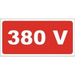 Placuta 'semne avertizare 380 v'
