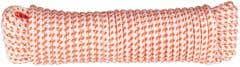 Cordelina PP, grosime 8 mm, lungime 20 m, alb portocaliu • Evotools