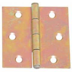 Balama aripi plane, 50 x 50 mm, zincat galben