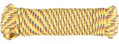 Cordelina PP, grosime 8 mm, lungime 20 m, galben multicolor • Evotools
