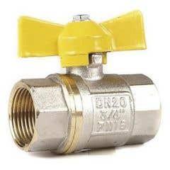 Robinet gaz cu bila interior-exterior, racord 1/2