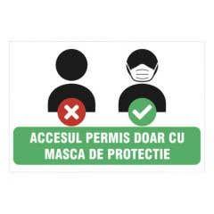 Indicator Accesul Permis Doar Cu Masca • Creative Sign