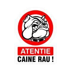 Indicator Atentie Caine Rau • Creative Sign