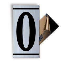 Cifra 0, ABS, Gravat, Argintiu, M7 • Creative Sign