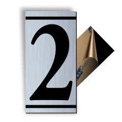 Cifra 2, ABS, Gravat, Argintiu, M7 • Creative Sign