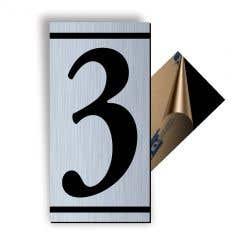 Cifra 3, ABS, Gravat, Argintiu, M7 • Creative Sign