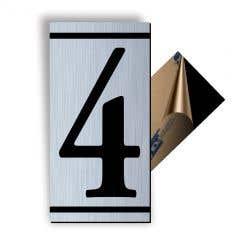 Cifra 4, ABS, Gravat, Argintiu, M7 • Creative Sign