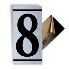 Cifra 8, ABS, Gravat, Argintiu, M7 • Creative Sign