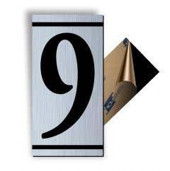 Cifra 9, ABS, Gravat, Argintiu, M7 • Creative Sign