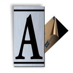 Litera A, ABS, Gravat, Argintiu M7 • Creative Sign