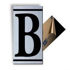 Litera B, ABS, Gravat, Argintiu, M7 • Creative Sign