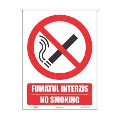 Indicator Fumatul Interzis, 15X20cm Bi • Retail Solutions
