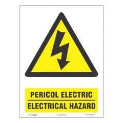 Indicator Bilingv Pericol Electric • Creative Sign