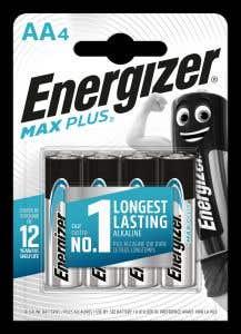 Baterie AA, 4BUC • Energizer, Alkalina Max Plus