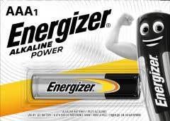 Baterii Alcaline AAA • Energizer, Alkalina