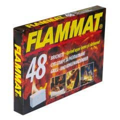 Brichete lemn si carbune Flammat, alb, 48 bucati/cutie