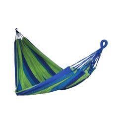 Hamac cu dungi, albastru cu verde, 230 x 150 cm